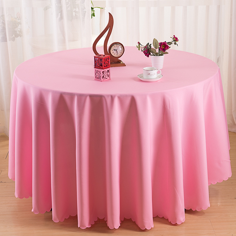 Solid round table cloth Europe Hotel tablecloth for a round table home dinning table cover wedding decorative pink tablecloths Стол