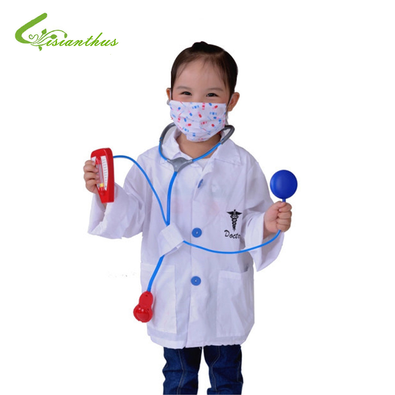 Girls Boys Halloween Costumes Doctor Sets Cosplay Stage Wear Clothing Children Kids Halloween Party Clothes Free