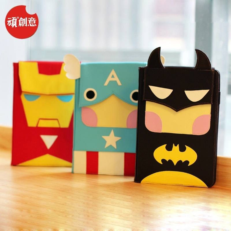 2015 Cute Cartoon Superheroes Loose-leaf notebook faux leather Notebook Diary Planner Notepad Kids Gift Korean Stationery - Fashion Shop 7 store