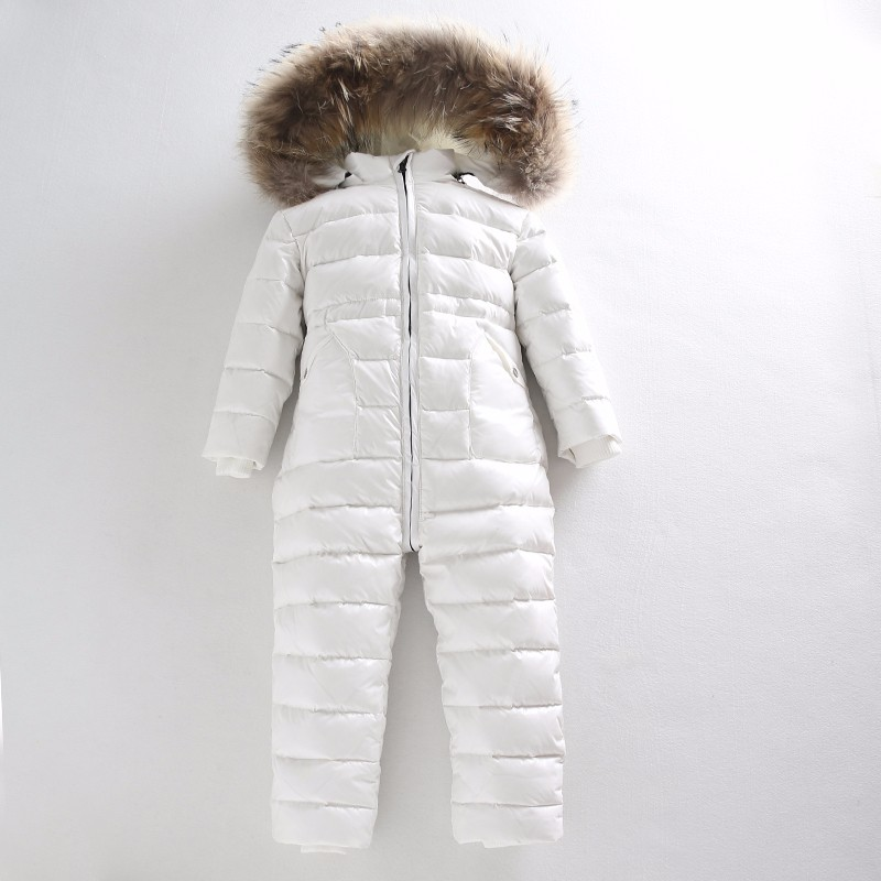 Epacket 2017 infant baby girls and boys snowsuit jacket kids hooded jumpsuit children sparkle winter down