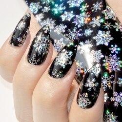 holographische nagel folien alle arten schneeflocken muster diy nail art wasser transfer abziehbild aufkleber manikre werkzeuge - Nagel Muster