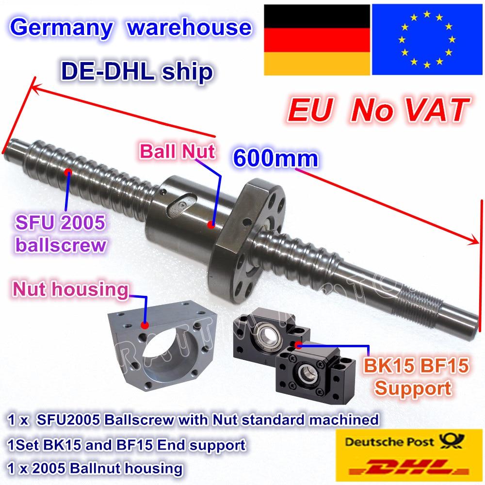 1pcs RM2005 SFU2005 L-1050mm Ballscrew End Machining with SFU2005 Ballnut