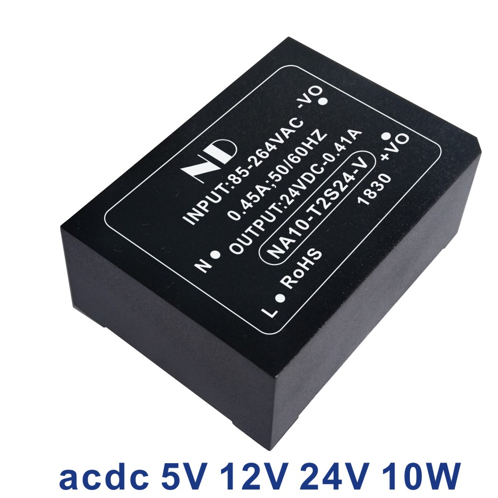 1pcs industrial ac dc power supply 220V to 5V2A 12V 24V 10w isolated acdc power module converter quality goods