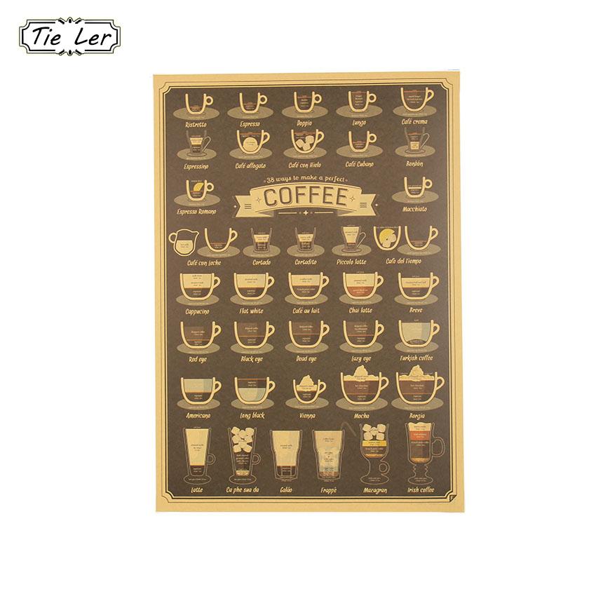 tie ler tazza di caff daquan bar cucina disegno manifesto ornamento di poster depoca