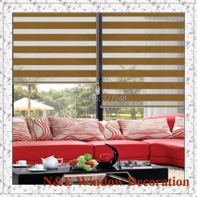 80% blackout Window blinds zebra roller blinds shades and pvc plastic transparent curtain for living room - custom size
