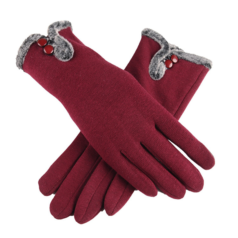 NAIVEROO Waterproof and Warm Touch Screen Gloves made of PU Leather and Conductive Fibers for Women Suitable for Spring and Winter 37