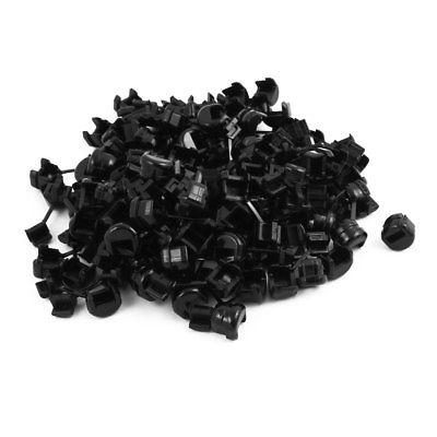 100Pcs 4N-4 Round Cable Wire Strain Relief Bush Grommet 11.5mm Diameter Black 4 baisi 100