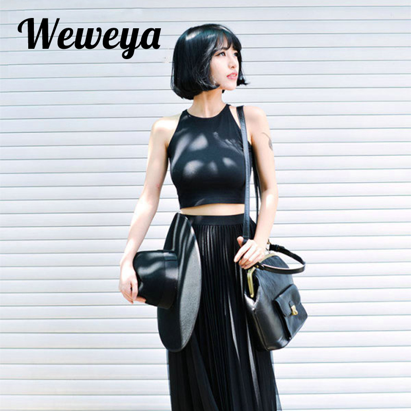 Weweya Stretchable/Flexible/Elastic Top Women Skin Friendly and Pure Color Tank Top Casual Soft Cotton Women Short Tank Tops tênis masculino lançamento 2019