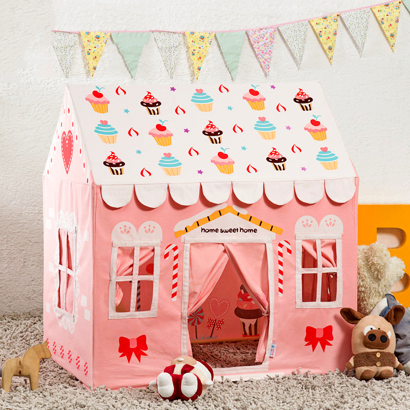 3 7years old children\'s tent toy cotton princess cubby house indoor ...