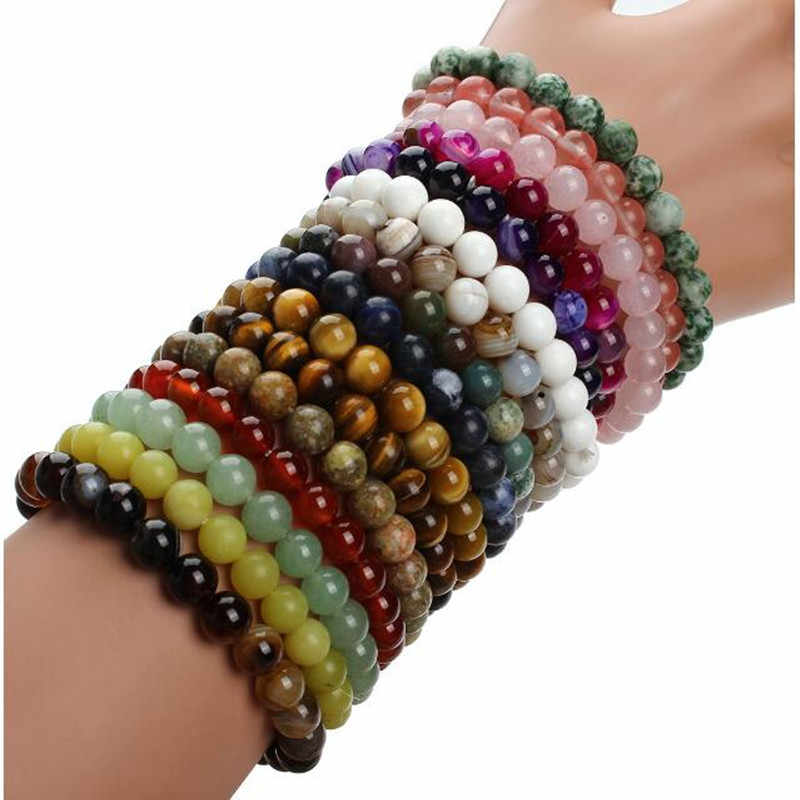 boho Natural Stone Bracelets For Women Men Beaded Yoga charm Bracelet Pulseira pulseras muje friendship bracelets jewelry