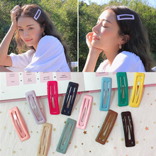 цены Color Square Candy Hair Clips Alloy Girl Hairpin Summer Cartoon Hairclips BB Clip Fashion Solid color Hair Accessories