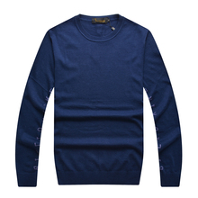 Billionaire italian couture sweater men's clothing o-neck casual comfort print letter breath material wool gentle free shipping