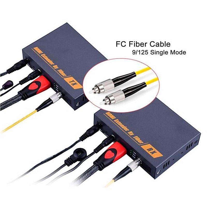 Новый HDMI Волокно оптический удлинитель конвертер 20 км по ip tcp 1080 P HDMI Волокно оптический Трансмиссия более SC/ FC Волокно кабель Поддержка ИК