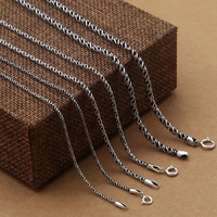100 Solid Sterling Silver 925 Woven Chain For Necklace Men Women Antique Thai Silver 925 Jewelry