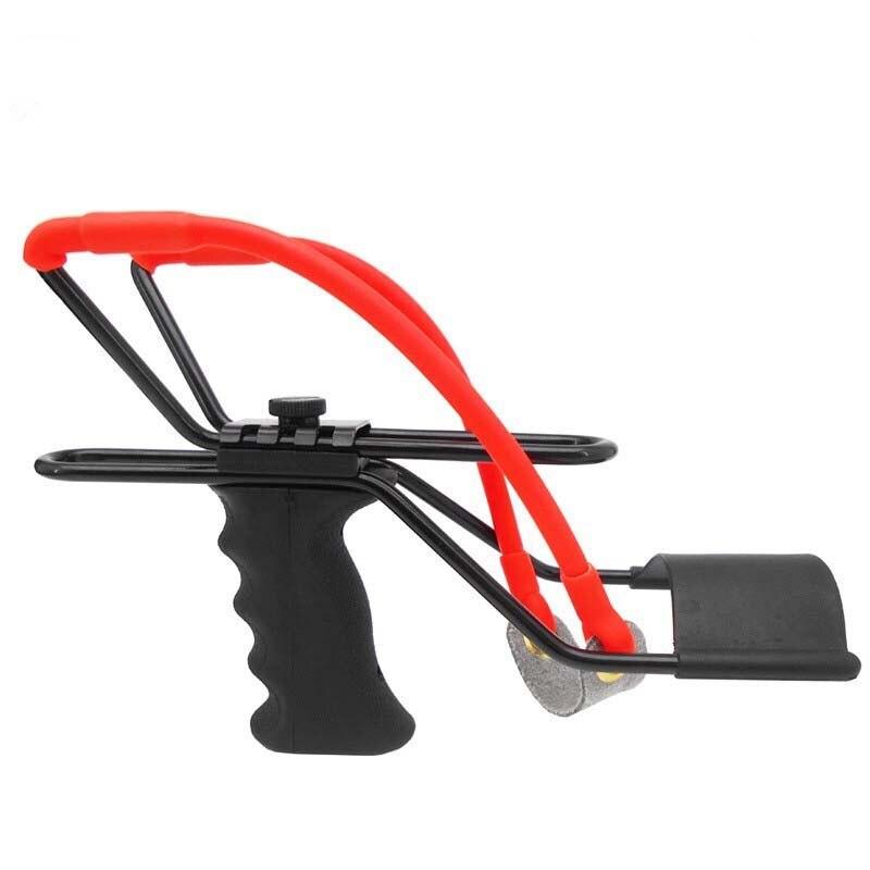 Outdoor Games Powerful Slingshot Wrist Brace Support Shot Slingshot Bow Catapult Hunting Slingshot For Hunting Shooting(China)