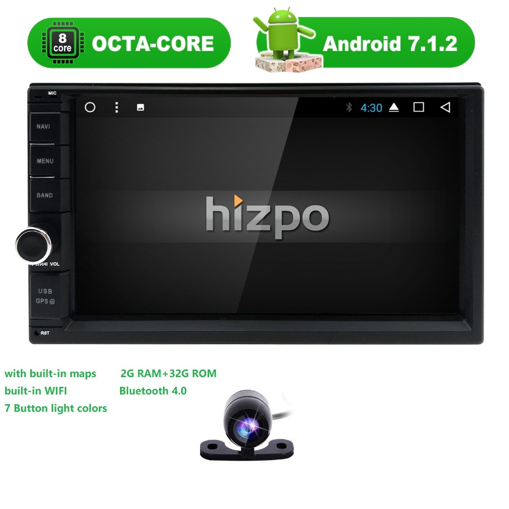 Octa Core 2G RAM android 7.1 car dvd gps navigation radio video player stereo universal 2 din radio car multimedia player gps все цены