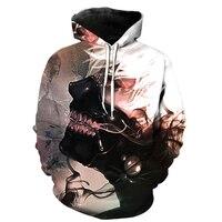 Jumeast 2018 New Design Tokyo Ghoul 3d Hoodies Mens Hoodies and Sweatshirts Tokyo Ghoul Hip Hop Fashion Men/Women Anime Hoodies