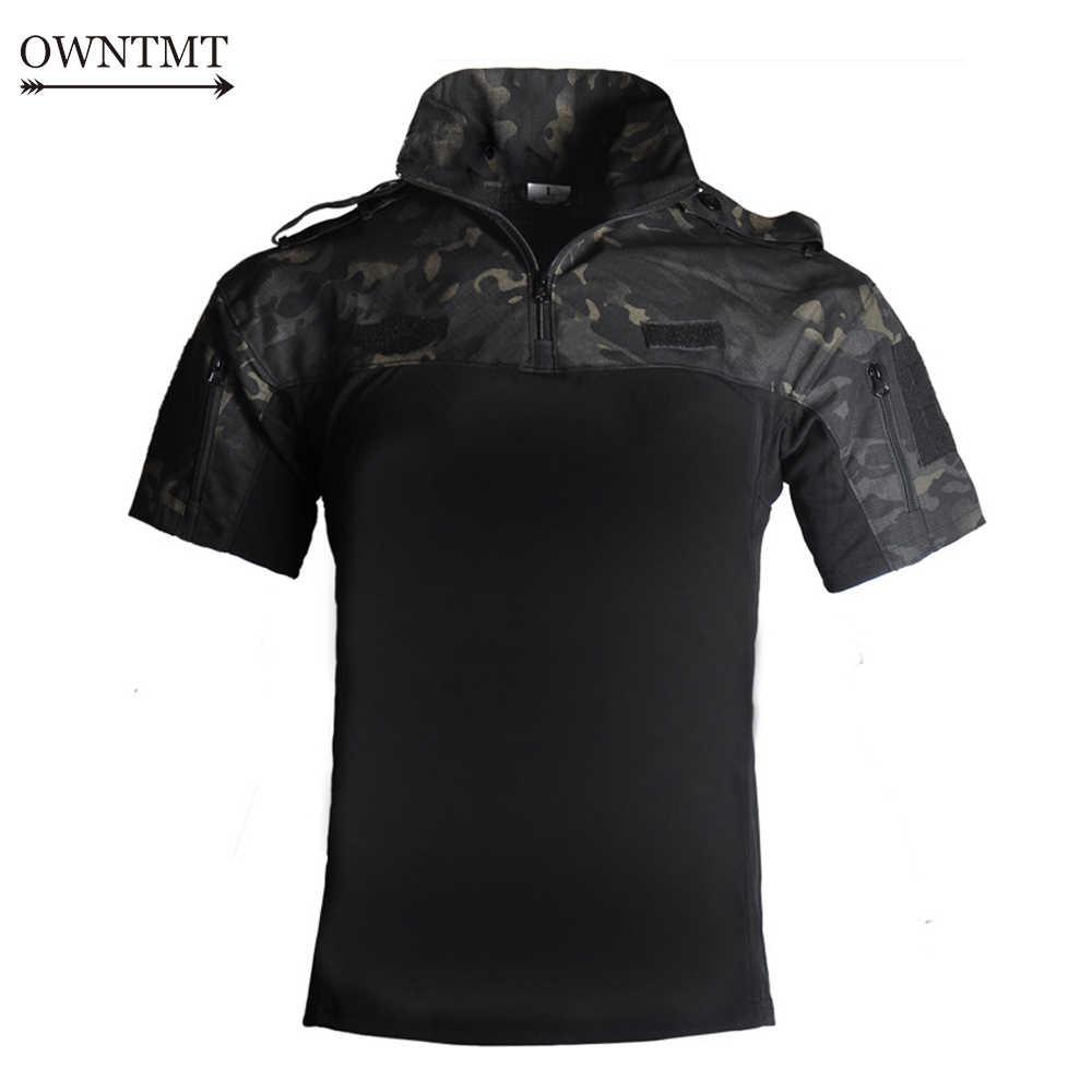 戦術軍服迷彩戦闘実績のあるシャツ迅速な暴行半袖ポロバトルストライクエアガンペイントボールポロ