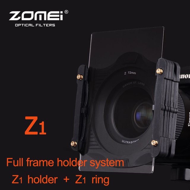 ZOMEI Wide Angle Lens Filter Holder Full frame Bracket System & ( )mm Adaptor Ring Kit For Cokin Z Series-in Camera Filters from Consumer Electronics ...