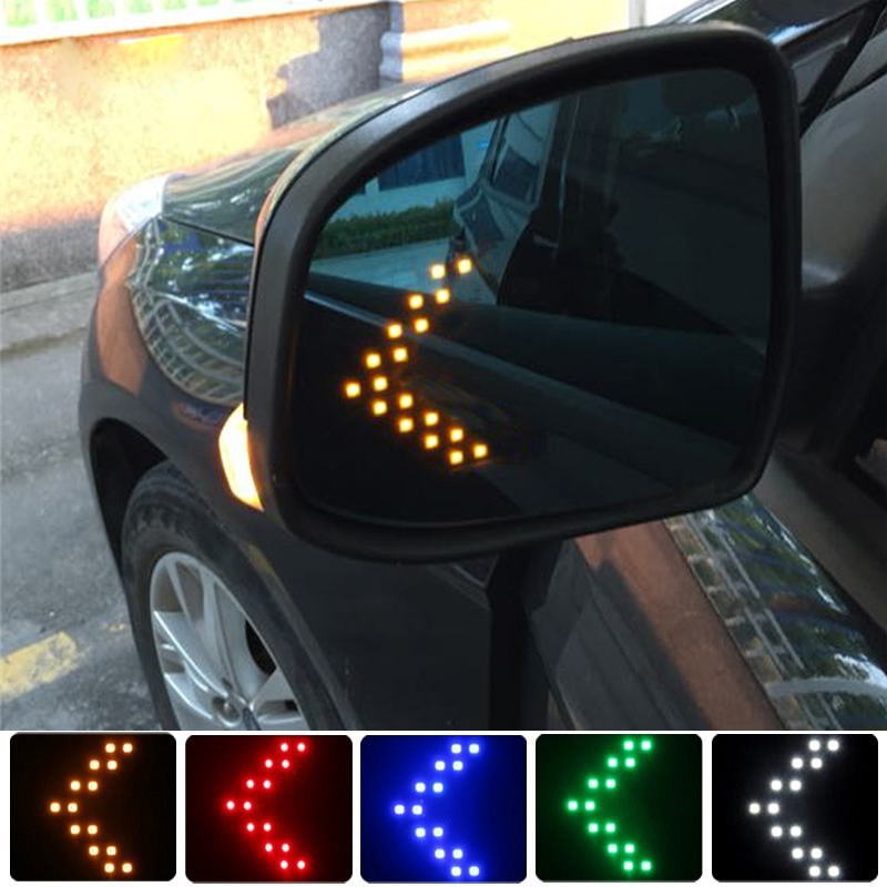 2X LED Arrow Panel For <font><b>Toyota</b></font> Corolla Yaris Avensis RAV4 Camry <font><b>Auris</b></font> Hilux Prius Chr Car LED Rearview Mirror Turn Signal Light image
