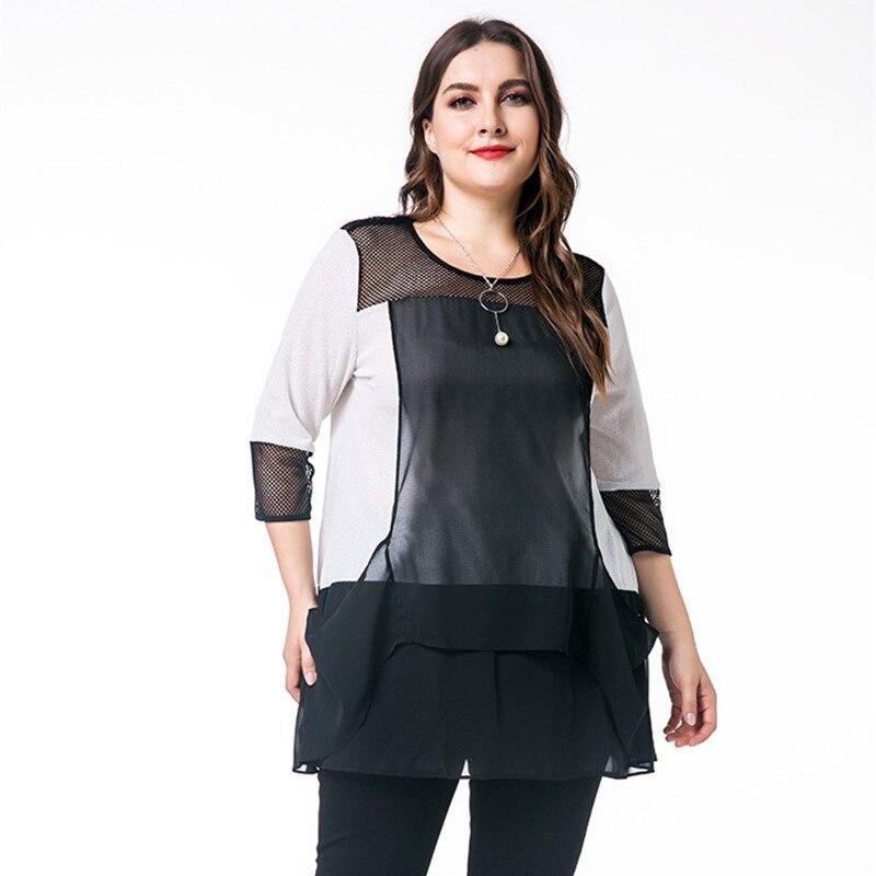 Plus Femmes Vêtements Mode Chemises La Tops 2018 Taille Pour Shirt T Automne 6xl T1avxdvqwY