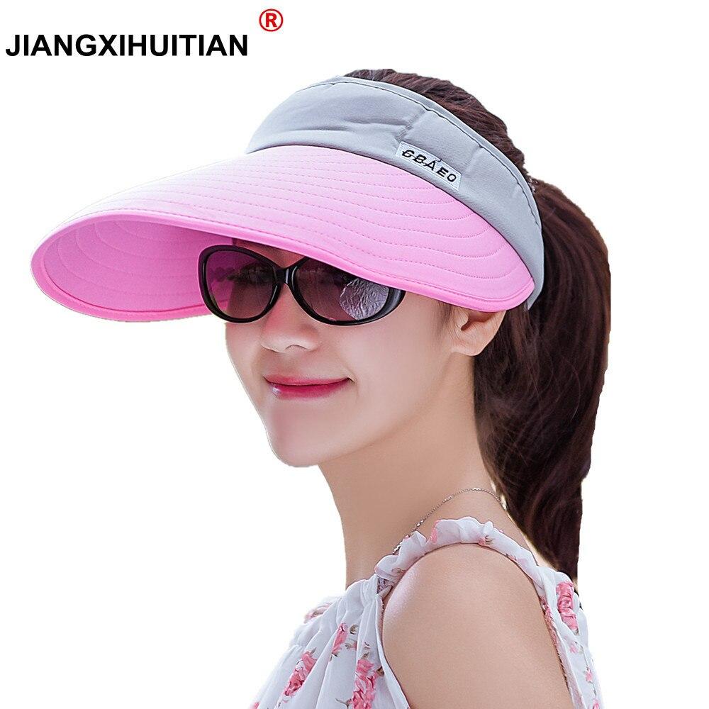 4566f817d14 Detail Feedback Questions about jiangxihuitian 2018 New Summer UV  100%cotton Visor Sun Hats Men Outdoor Clear Dealer Tennis Beach Hat  Protection Snapback ...