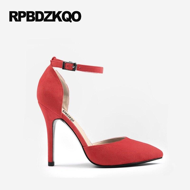 Classic Sandales 10cm Chaussures 8cm Taille red Bout Sangle 34 8cm Pointu Suede Hauts De Bal 10cm grey Dames black 2017 Pompes 33 10cm Talons Petite Black nude 4 10cm nude 8cm Robe Noir Stiletto grey red 8cm Cheville n14qd00HW