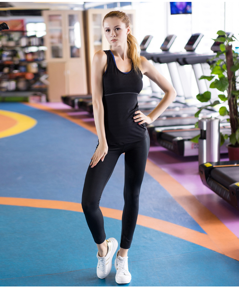 Women's Yoga Tops Sexy Gym Sportswear 12