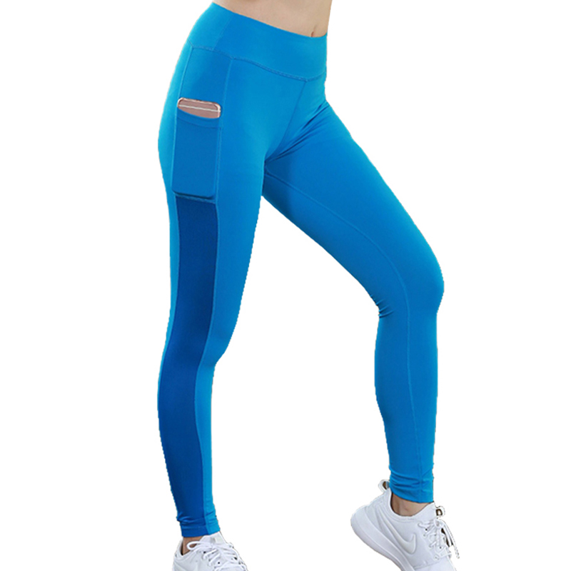 Womens Bodyboulding tights fitness pocket yoga Compression Pants Running trousers slim pants elastic ladys pants sport leggings