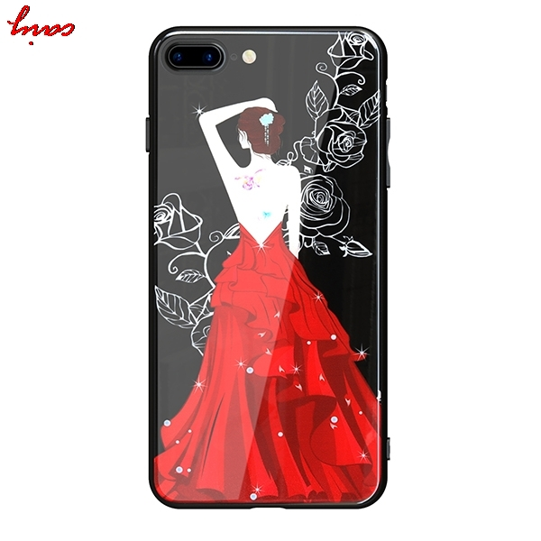 for Apple iPhone 8 iPhone8 Acrylic painted imitation glass shell Case Back Cover for Apple iPhone 7 Phone7 phone cases Fundas