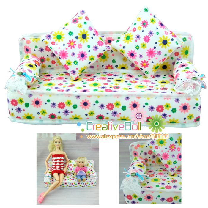 juguetes divertidos para el beb nias juego juguetes casa de muecas muebles mini flor sof suave