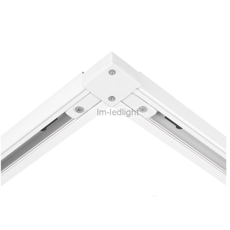 Black Wire Track Lighting: LED Track Lighting Rail L Connector In White Black 2 Wire