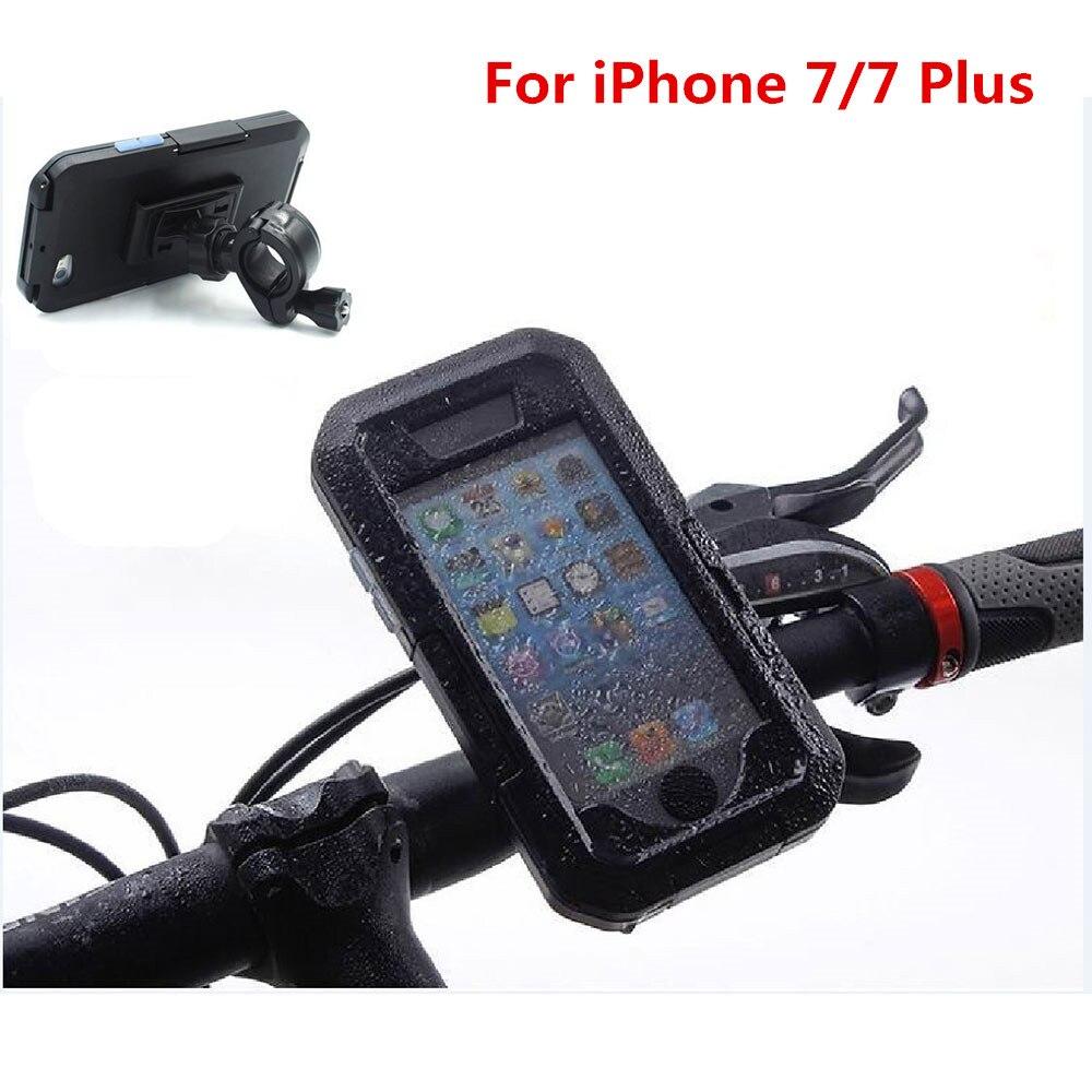 imágenes para Motocicleta de La bicicleta Soporte para Teléfono Bicicleta GPS de Navegación Titular Cubierta Impermeable Para el iphone 7/7 Plus Soporte Cáscara Del Teléfono Móvil