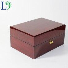 Высококачественная деревянная коробка, бизнес подарочная упаковочная коробка, твердая деревянная коробка для отображения часов, лаковый органайзер для хранения ювелирных изделий