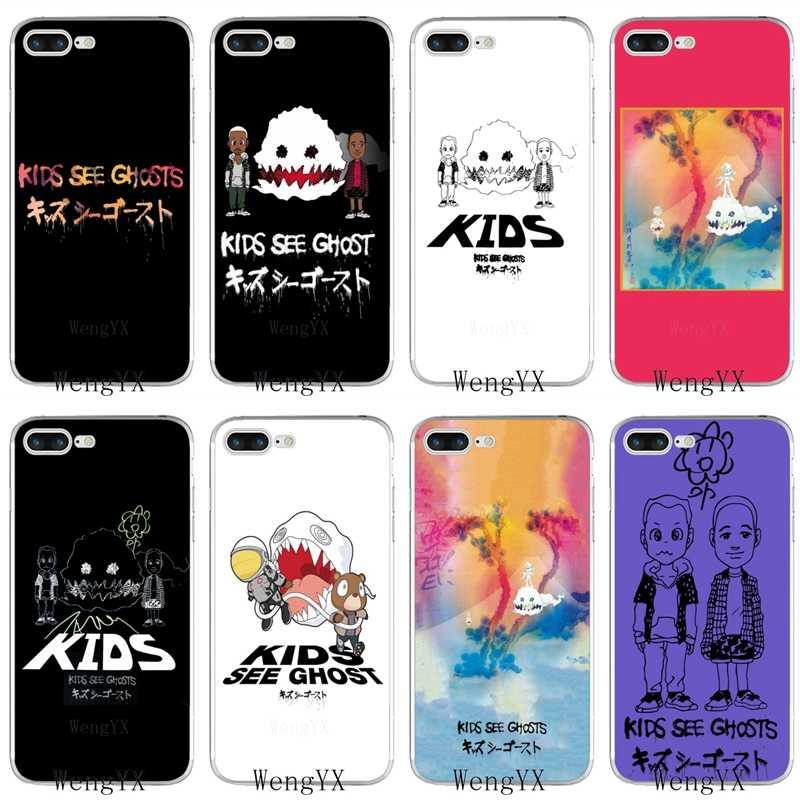 Kids See Ghosts Kanye Slim Silicone Tpu Soft Phone Case For