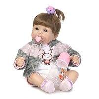 Fashion 16 Inch Newborn Dolls Soft Silicone Vinyl Realistic Babies Reborn Dolls 40 Cm Lifelike Bebe