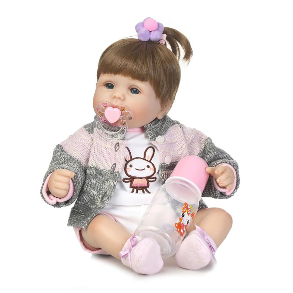 Mode 16 Pouce Nouveau-Né Poupées En Vinyle Souple En Silicone Réaliste Bébés Reborn Poupées 40 cm Réaliste bebe Cadeaux De Noël Pour Enfants