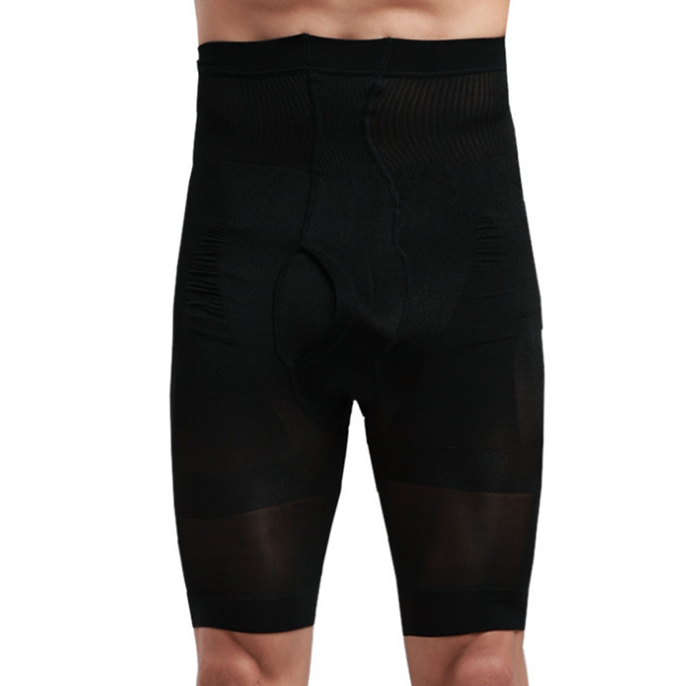 Men Slim Body Abdominal Shapewear Shorts Slimmer Shaper HighWaist Pant Underwear(China)