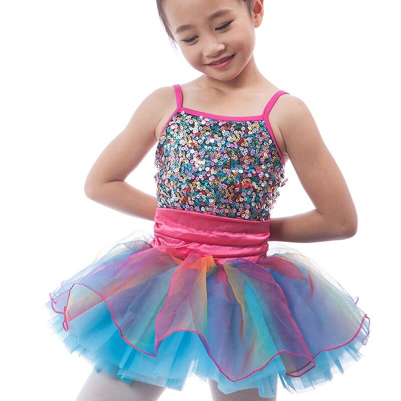 94bee8fa9 Shining Sequins Mixed color Children Ballet Tutu Girls Ballerina ...