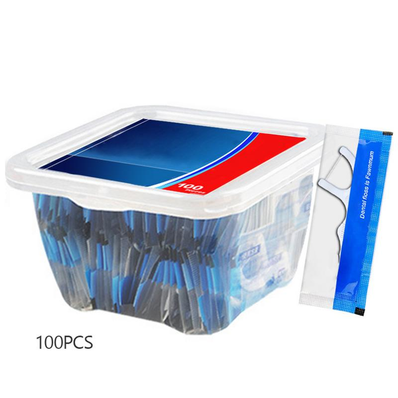 100PCS/Set Dental Floss Boxed Floss Toothpick Strong Tension Floss Help You Clean The Teeth Deeply For Oral Health
