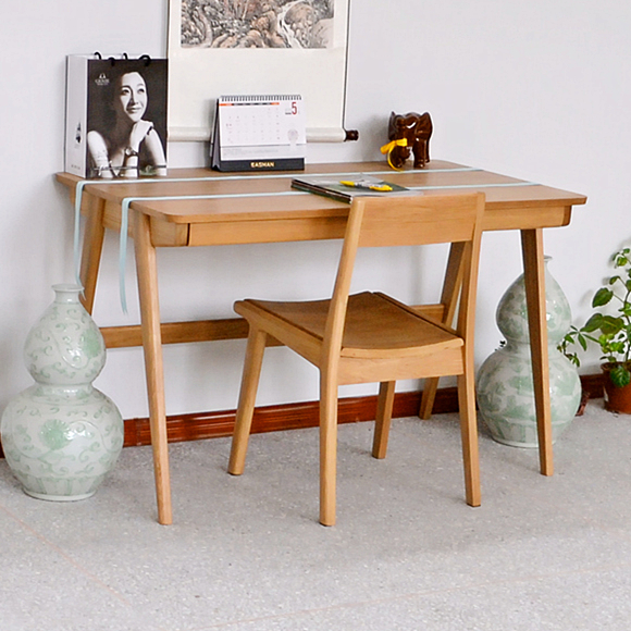 table Cheap white oak solid wood desk computer study Japanese style  furniture