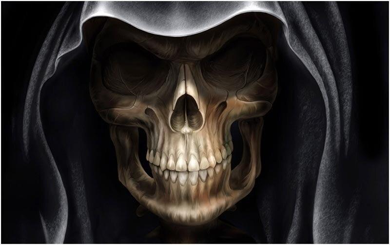 free shipping halloween skull mask the haunted house decoration item wholesale horror ghost full head mak - Halloween Skull