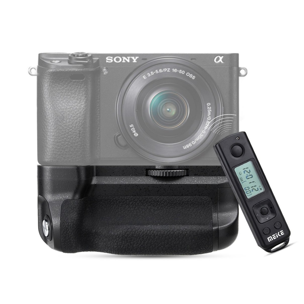 ФОТО Meike MK-A6300 Pro Battery Grip 2.4G Wireless Remote Control for Sony A6300 working with NP-FW50 battery