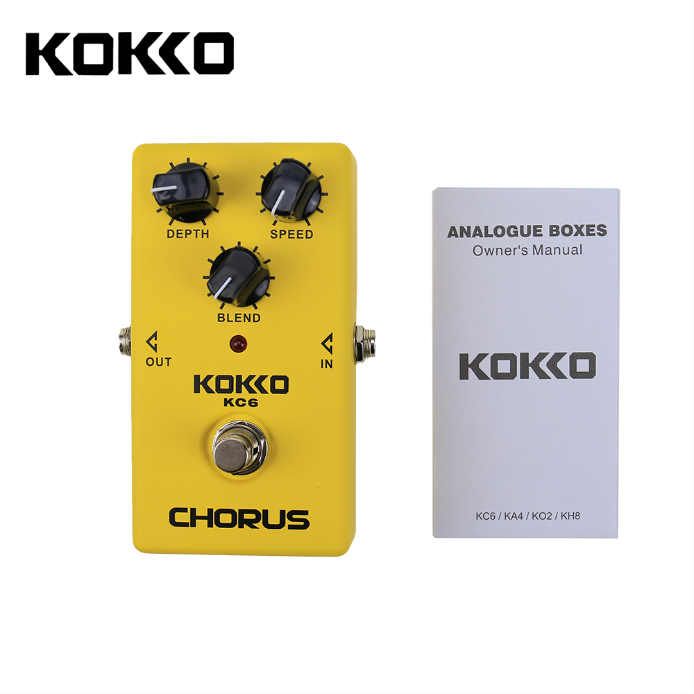 KOKKO Chorus Guitar Effect Pedal Chorus Guitarra Stompbox Nice Quint Full bodied 12-String Sounds