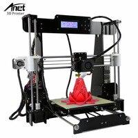 Anet A8 3D Color Printing Printer Large Printing Size Precision Reprap 3 DIY 3D Printer kit 3 Materials LCD Filament