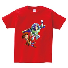 Buzz lightyear children T-shirt in the summer boys and girls dress 100% cotton T shirt kids Multi-color t camiseta  NN