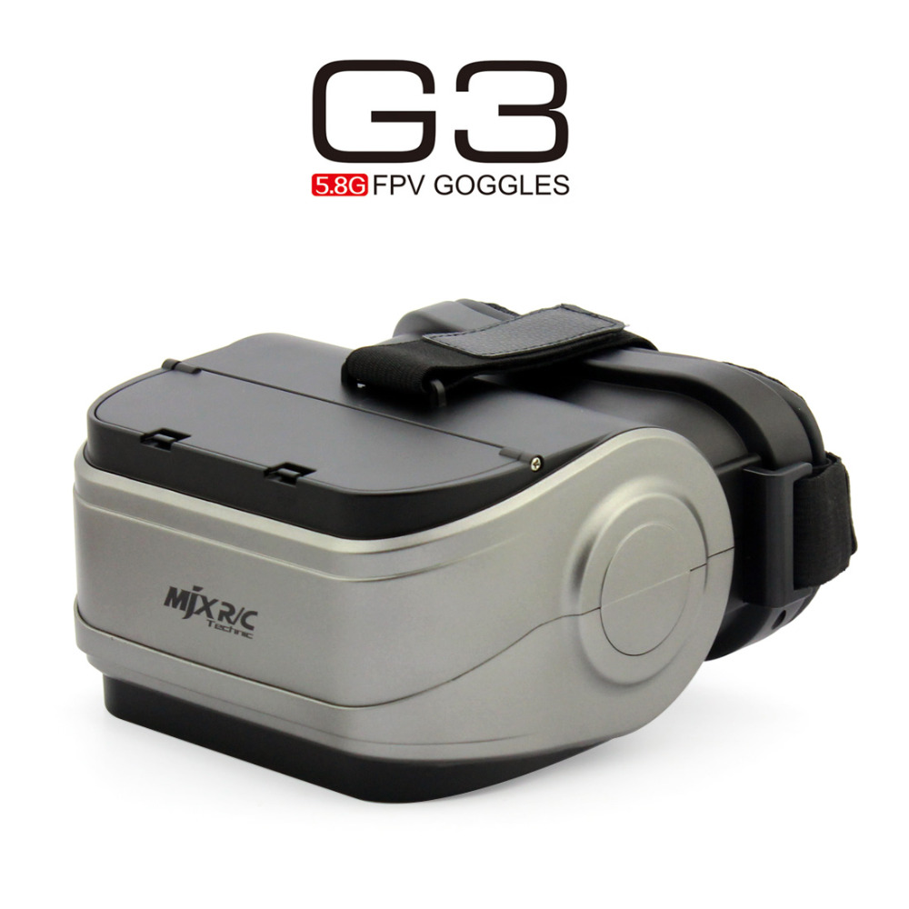 MJX G3 5.8G FPV Goggles VR Glasses Video for MJX D43 FPV Receiver Monitor Bugs 6 Bugs 8 B6 B8 RC Racing  Drone Spare Parts fpv mini 5 8g 150ch mini fpv receiver uvc video downlink otg vr android phone tablet pc fpv mobile phone display receiver