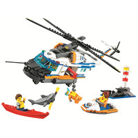 BELA City Heavy Duty Rescue Helicopter Building Blocks Sets Kits Bricks Classic Model Toys Kids Gift Marvel Compatible Legoings