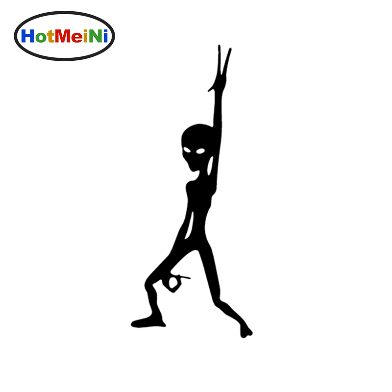 HotMeiNi 6*15CM Alien Funny Decal vinyl Car sticker For Car SUV Truck Boat Window Bumper Home Wall Stickers Accessories Deco drip biohazard skull respirator funny vinyl decal sticker car window bumper diy self adhesive car styling art stickers