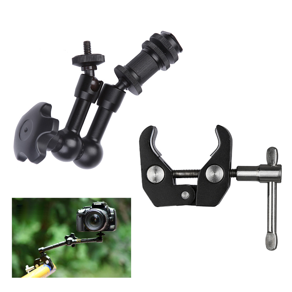 Camera Accessories 7inch Adjustable Friction Articulating Magic Arm with Super Clamp Chip for DSLR Rig LCD Monitor LED Light